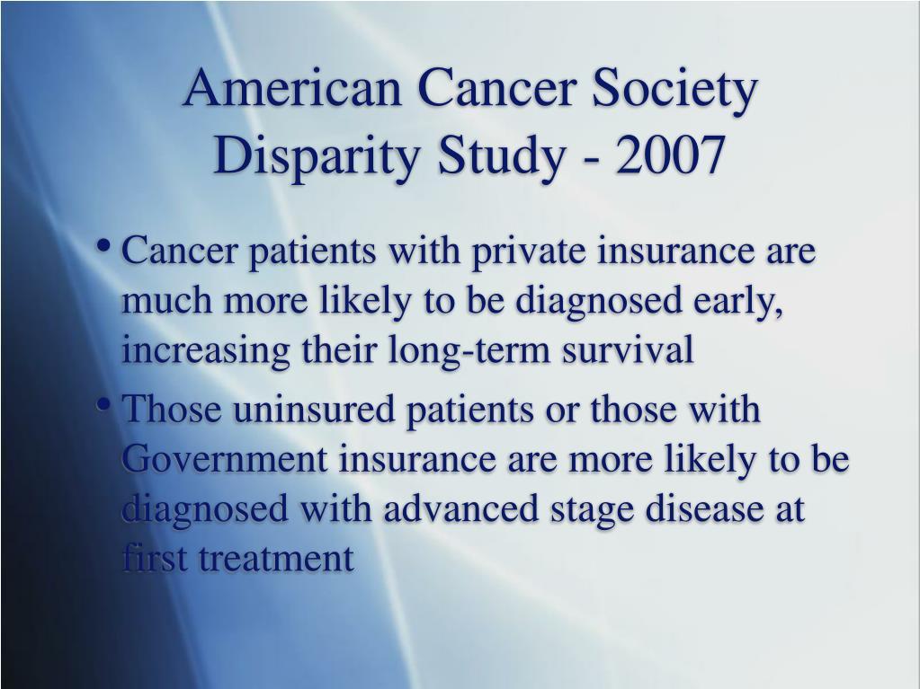 American Cancer Society Disparity Study - 2007