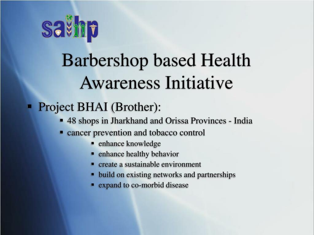 Barbershop based Health Awareness Initiative