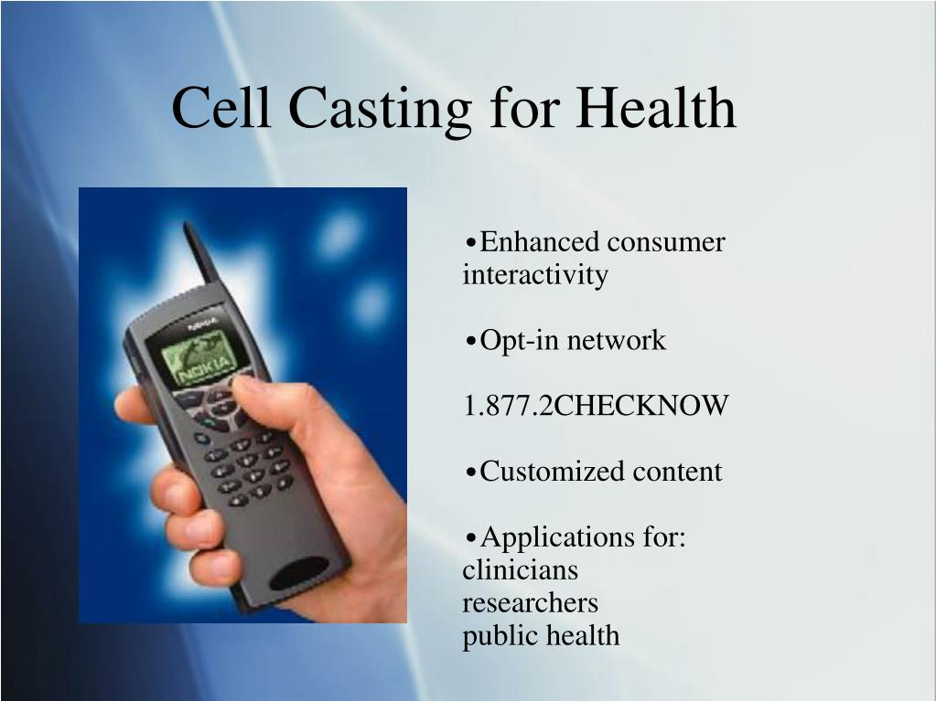 Cell Casting for Health