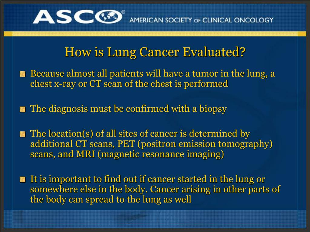 How is Lung Cancer Evaluated?
