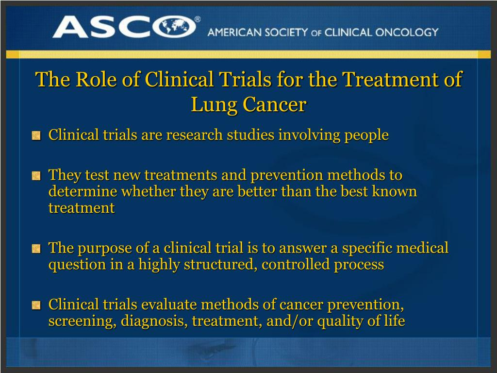 The Role of Clinical Trials for the Treatment of Lung Cancer