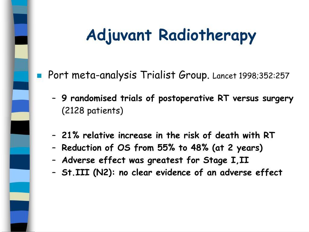 Adjuvant Radiotherapy