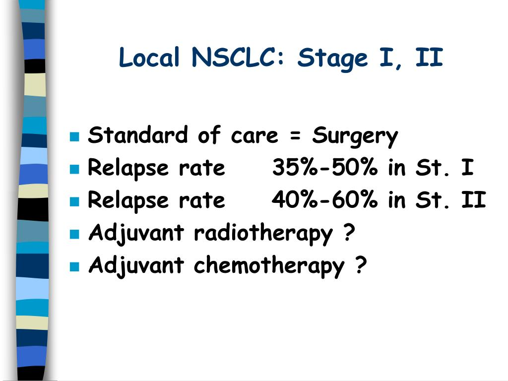 Local NSCLC: Stage I, II
