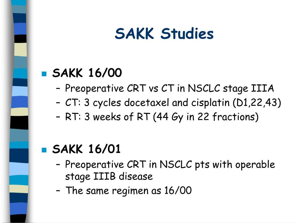 SAKK Studies