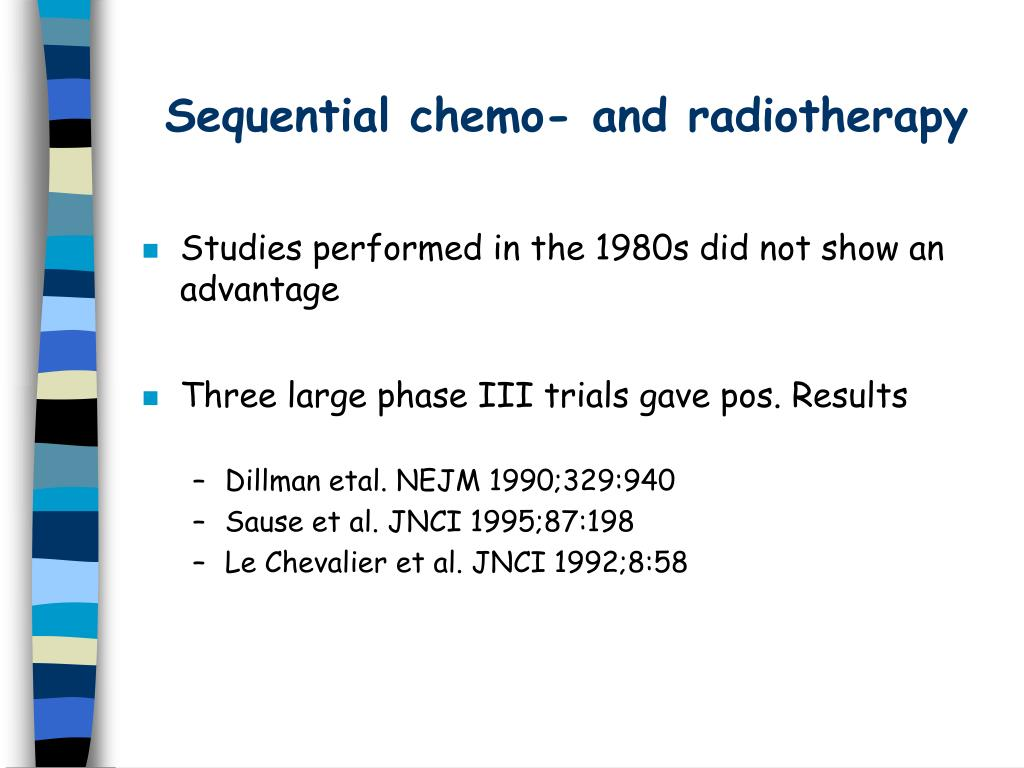 Sequential chemo- and radiotherapy