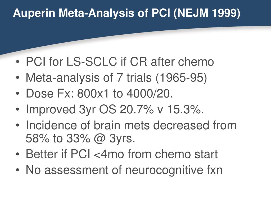 Auperin Meta-Analysis of PCI (NEJM 1999)