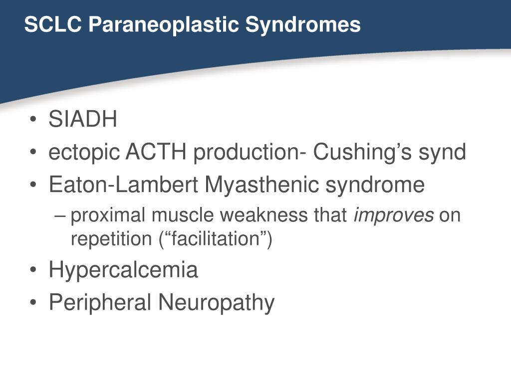 SCLC Paraneoplastic Syndromes