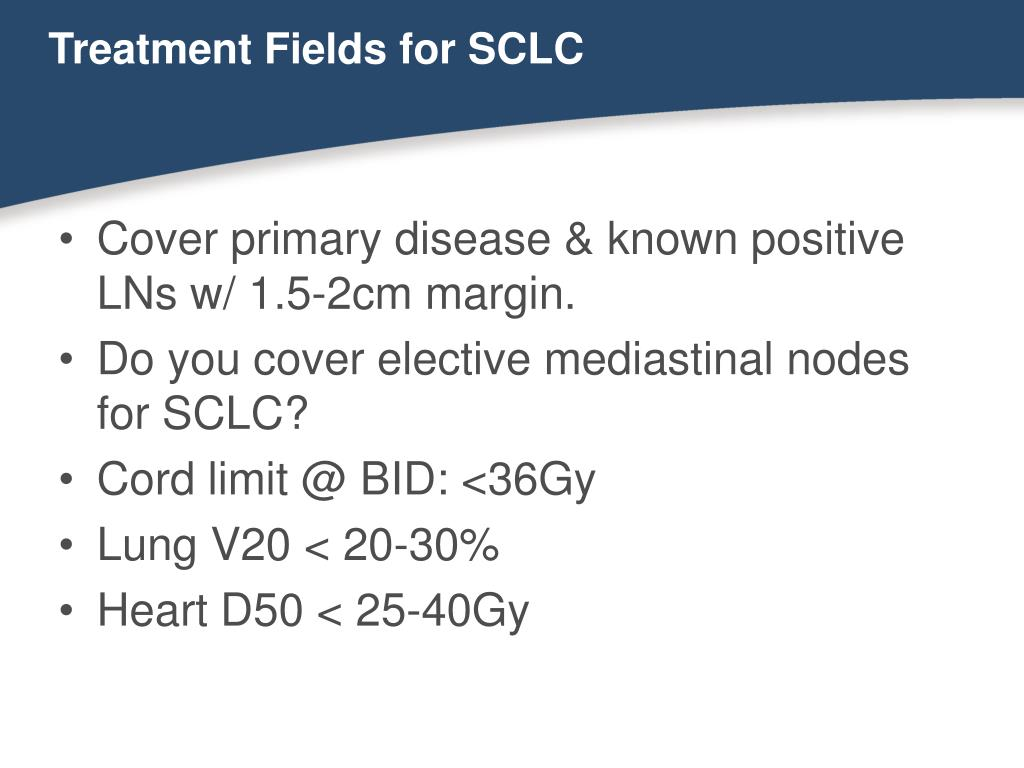 Treatment Fields for SCLC