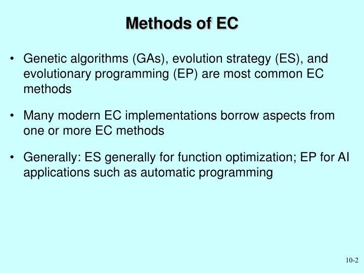 Methods of EC