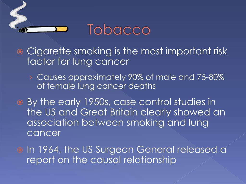 Cigarette smoking is the most important risk factor for lung cancer