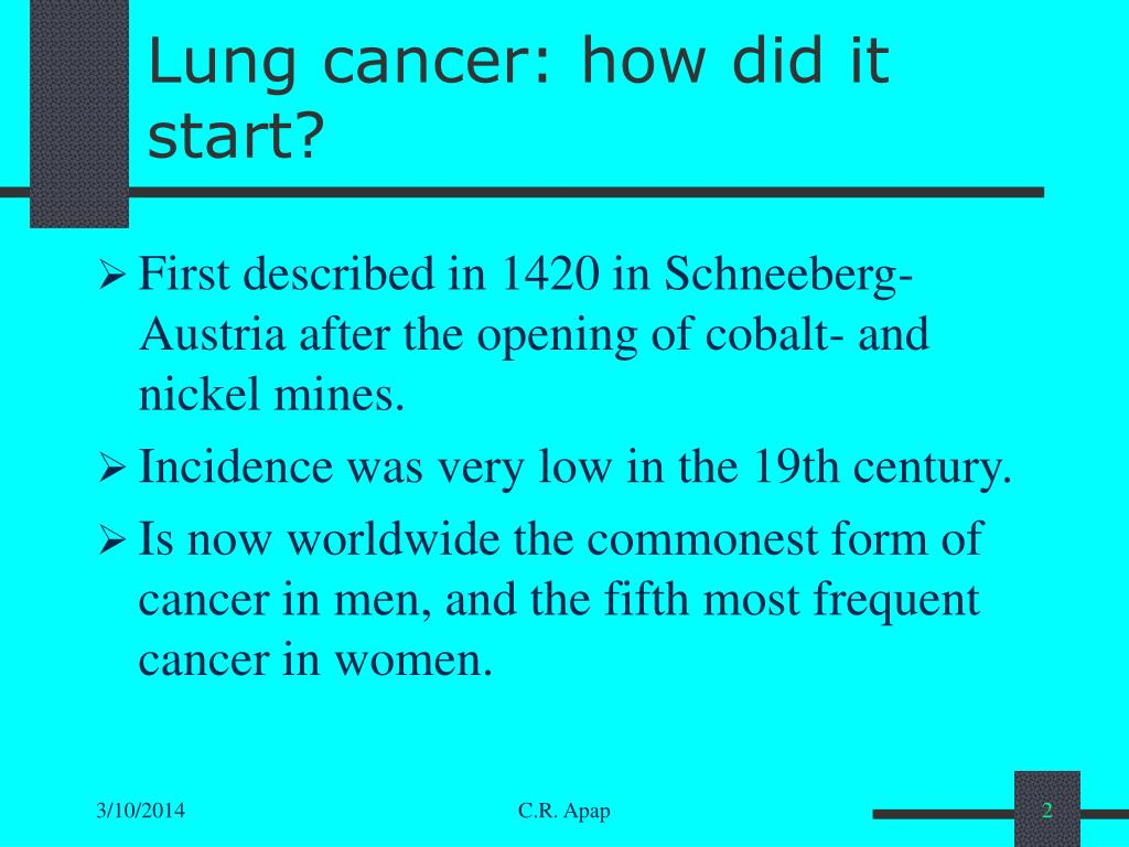 Lung cancer: how did it start?