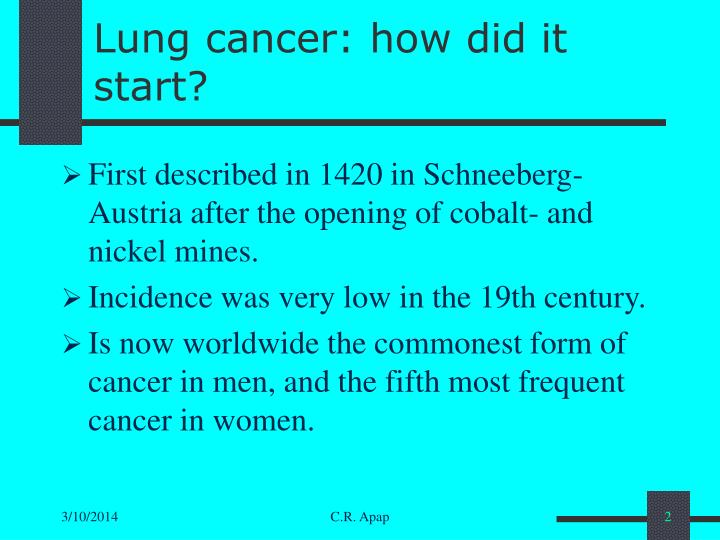 Lung cancer how did it start