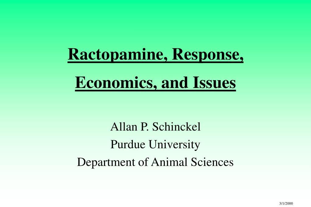 Ractopamine, Response,