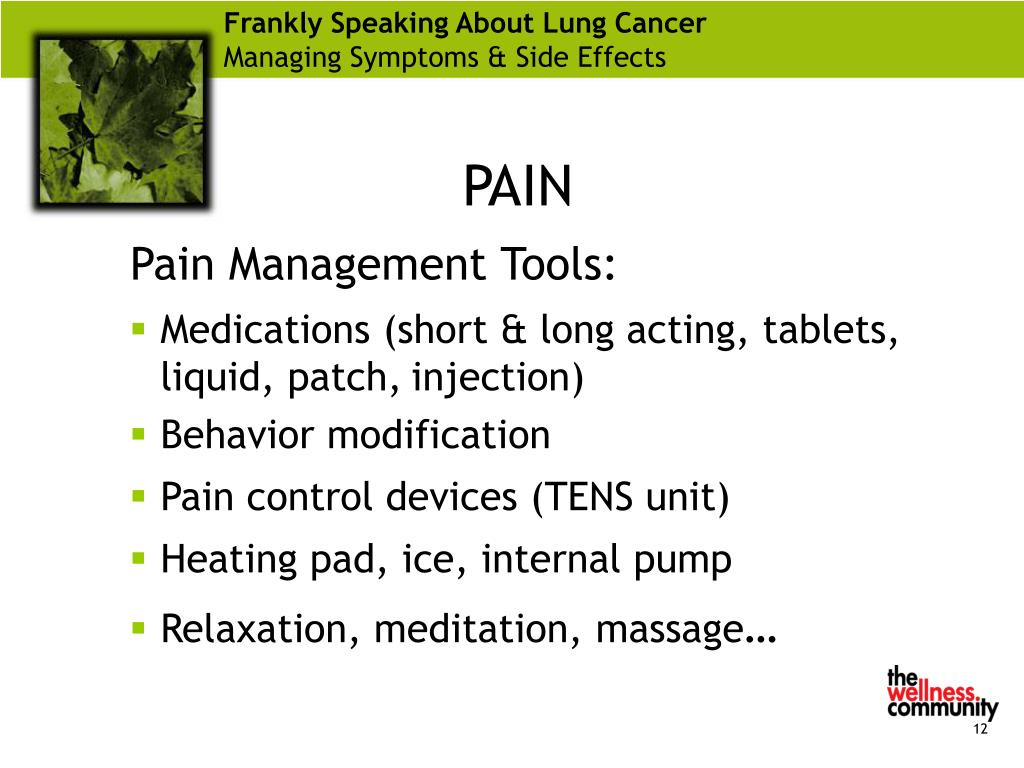 Frankly Speaking About Lung Cancer