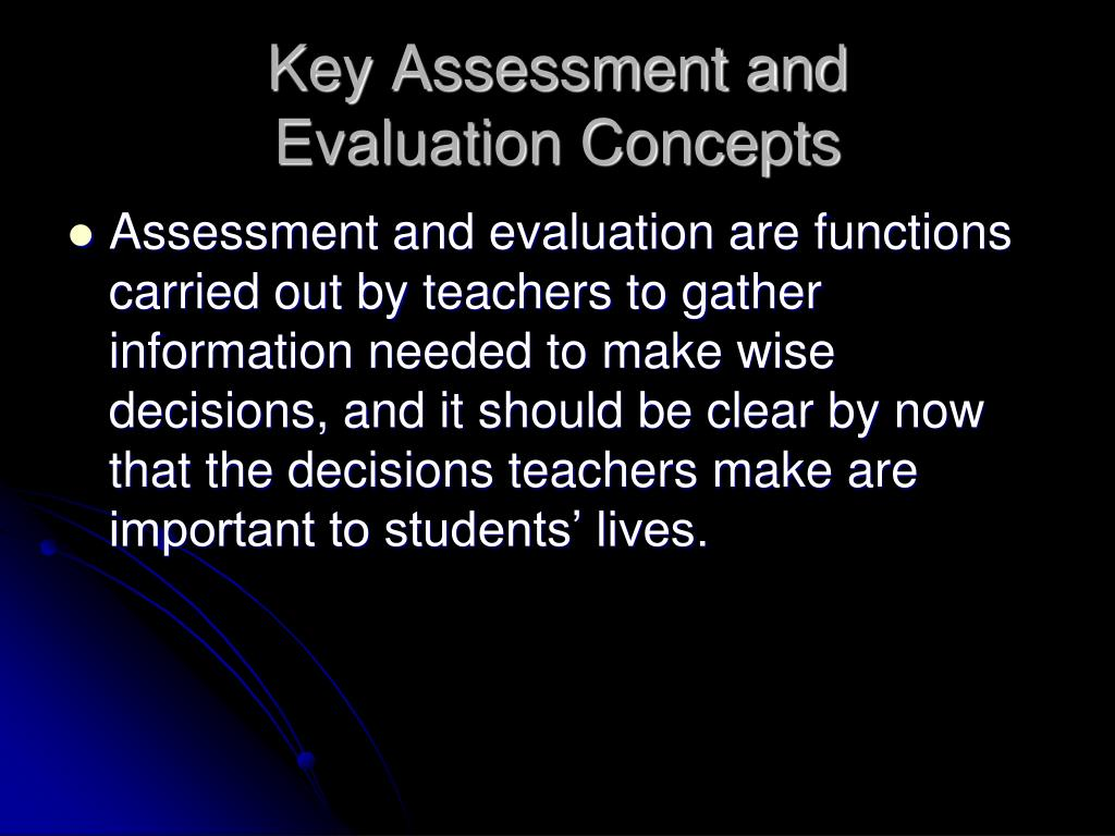 Key Assessment and