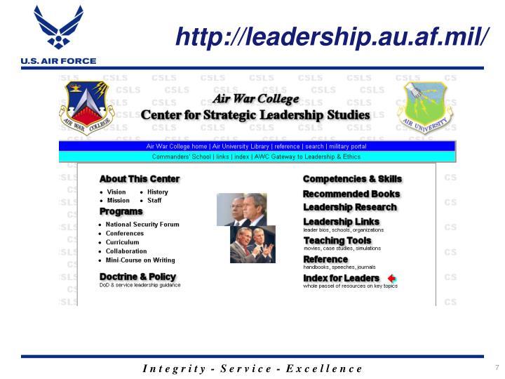 http://leadership.au.af.mil/