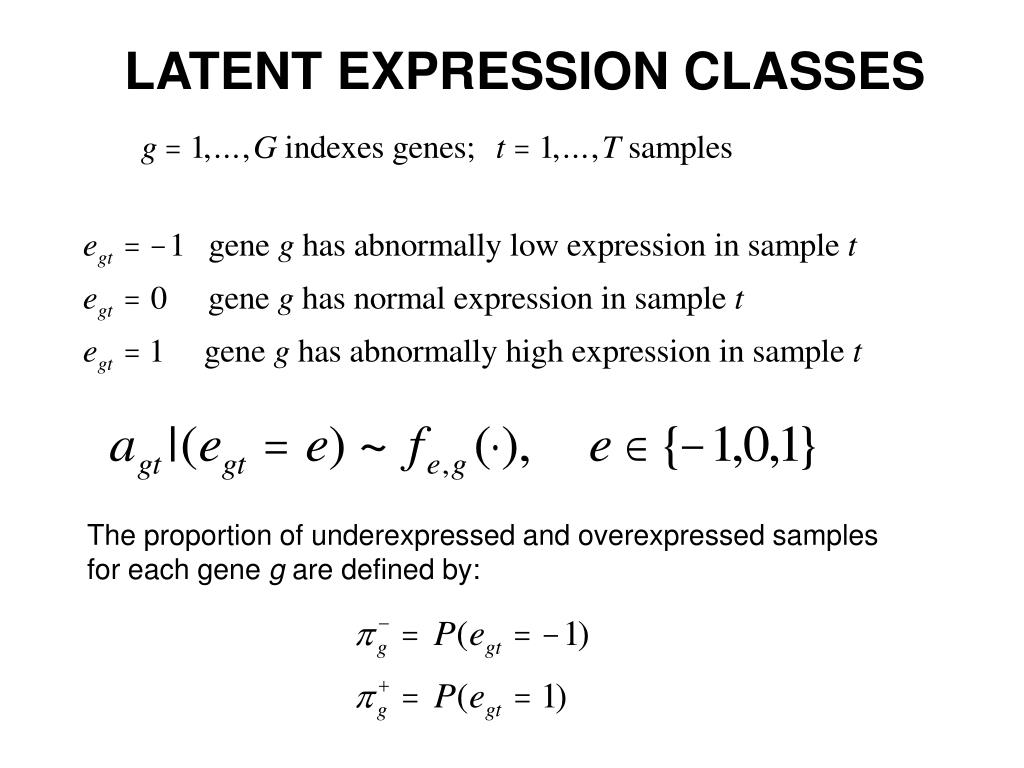 LATENT EXPRESSION CLASSES