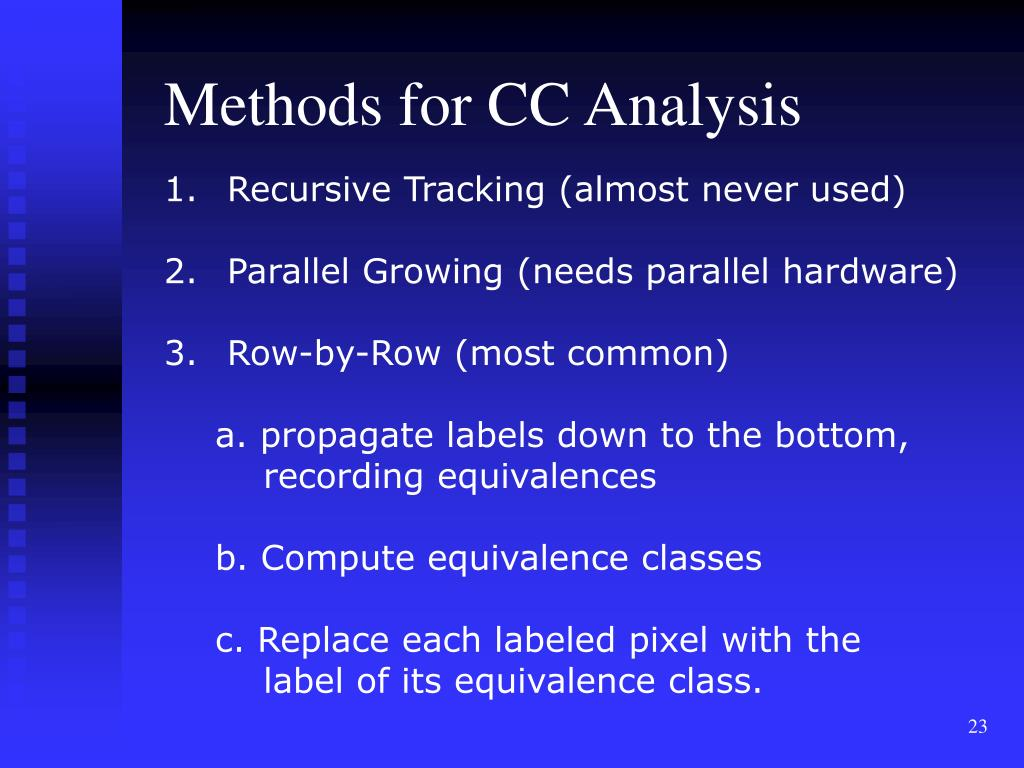 Methods for CC Analysis