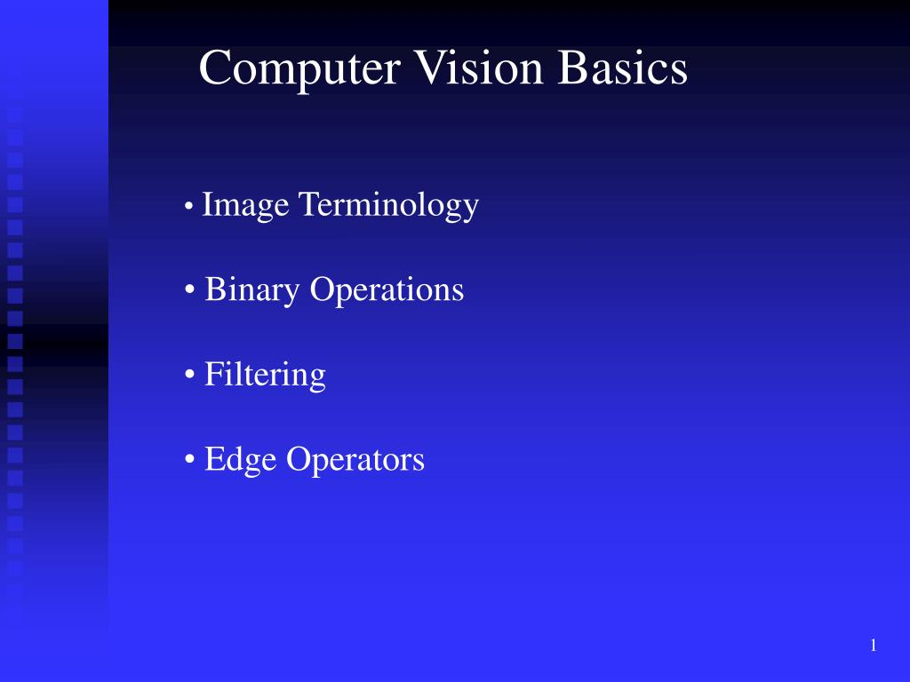 Computer Vision Basics