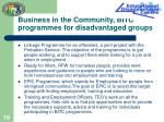 business in the community bitc programmes for disadvantaged groups
