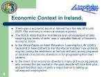 economic context in ireland