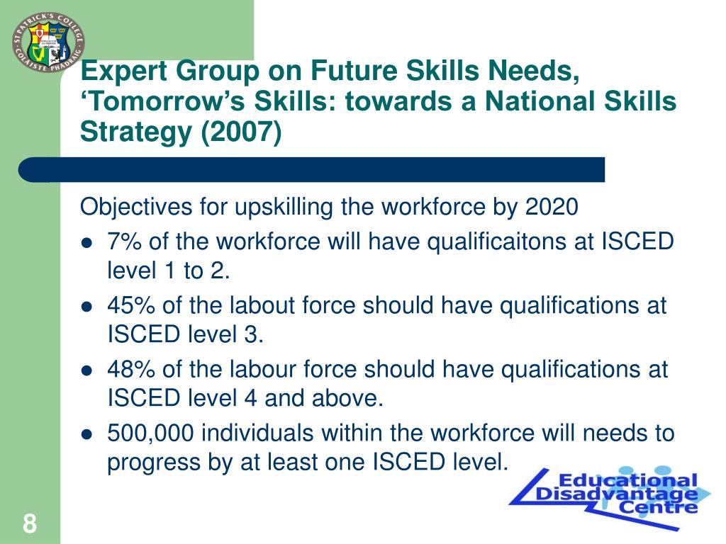 Expert Group on Future Skills Needs, 'Tomorrow's Skills: towards a National Skills Strategy (2007)