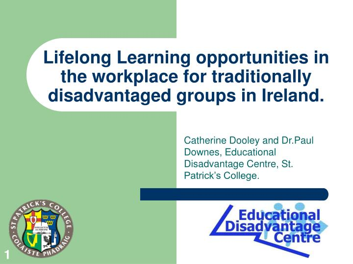 Lifelong learning opportunities in the workplace for traditionally disadvantaged groups in ireland l.jpg