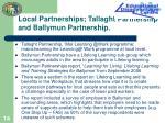 local partnerships tallaght partnership and ballymun partnership