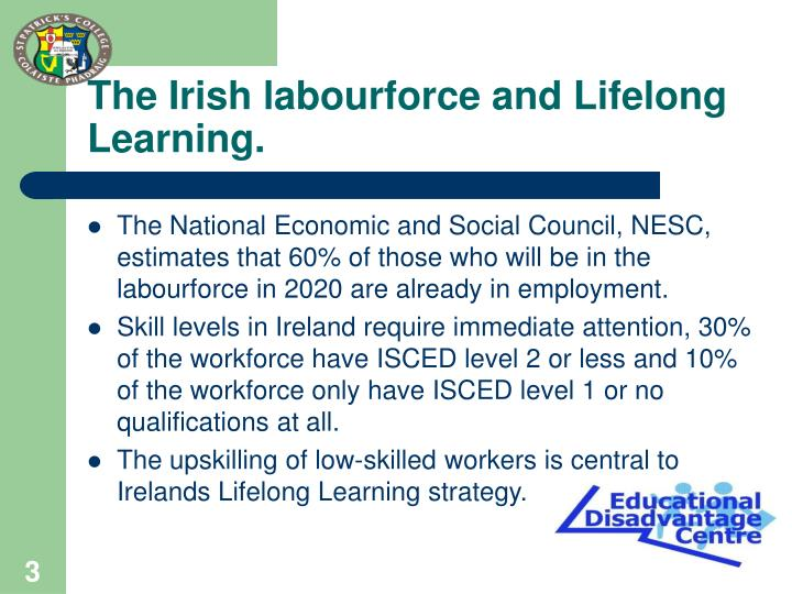 The irish labourforce and lifelong learning l.jpg
