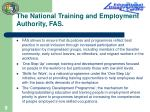 the national training and employment authority fas