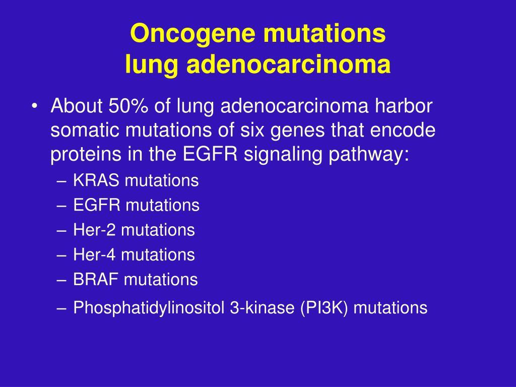 Oncogene mutations