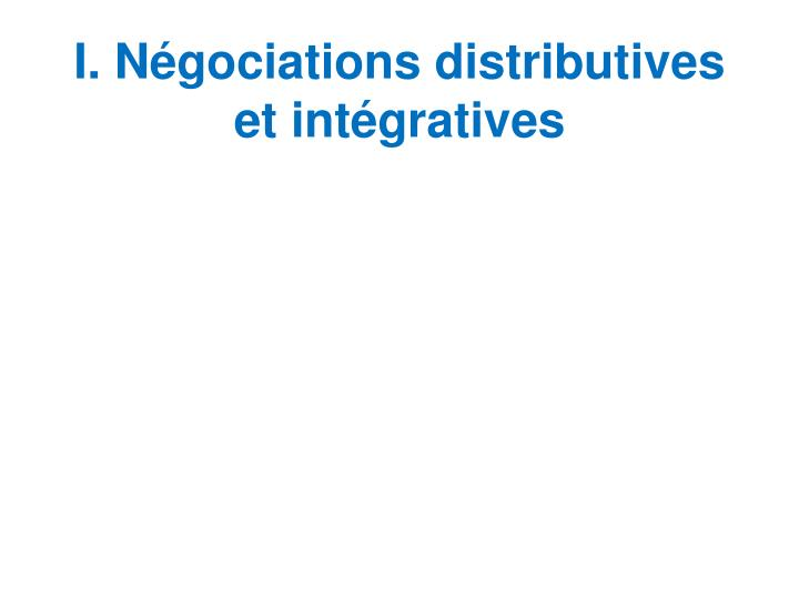 I n gociations distributives et int gratives l.jpg