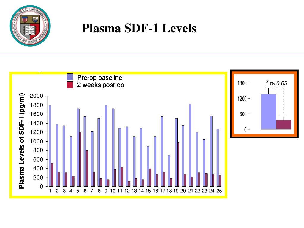 Plasma SDF-1 Levels