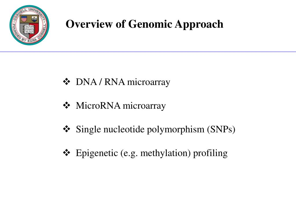 Overview of Genomic Approach