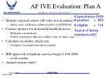 af ive evaluation plan a