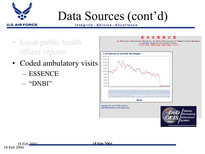 Data Sources (cont'd)