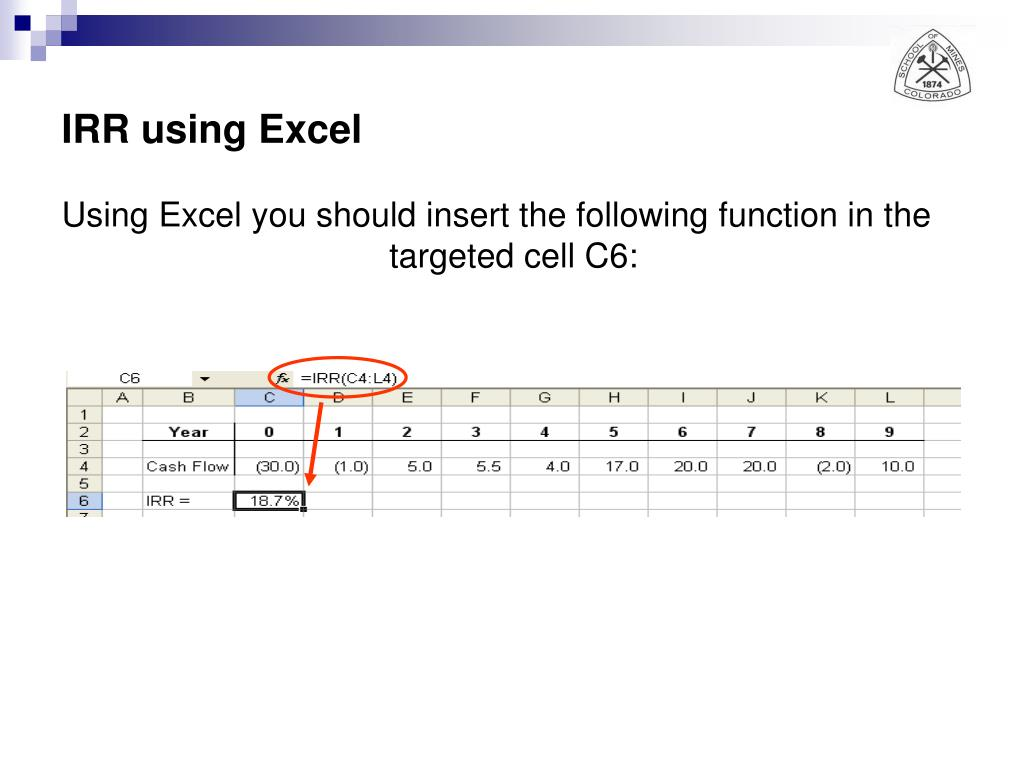IRR using Excel