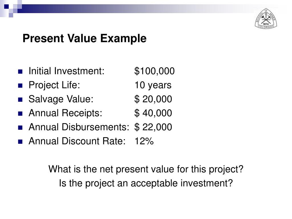 Present Value Example