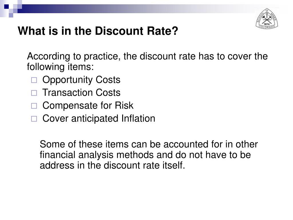 What is in the Discount Rate?