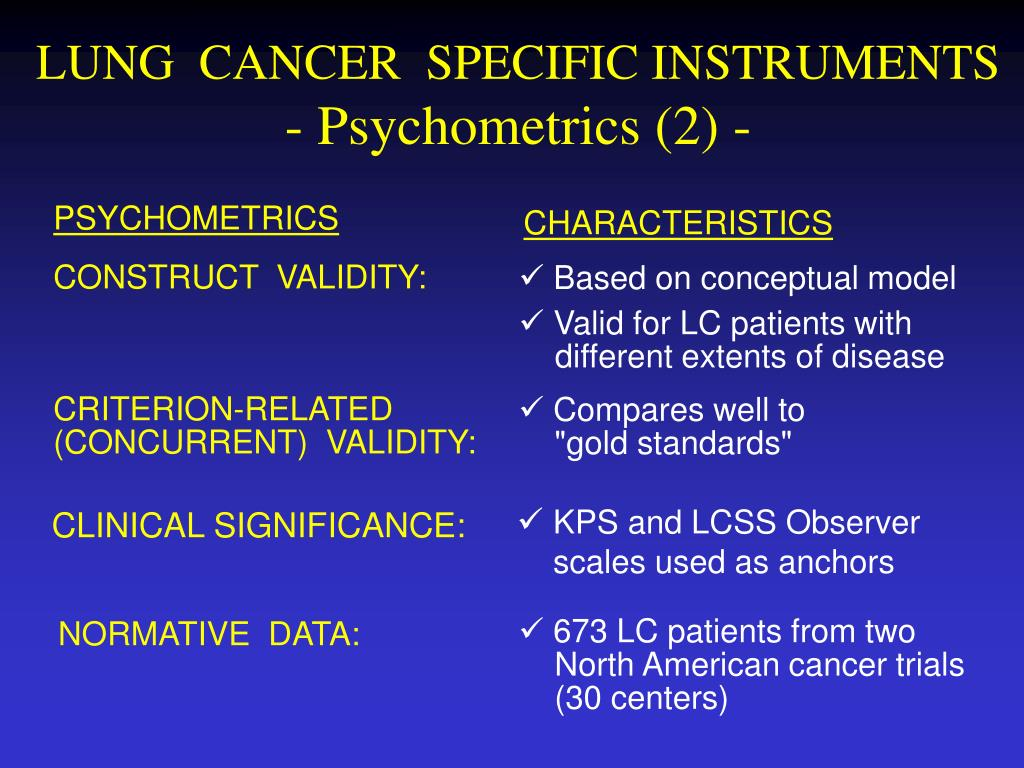 LUNG  CANCER  SPECIFIC INSTRUMENTS