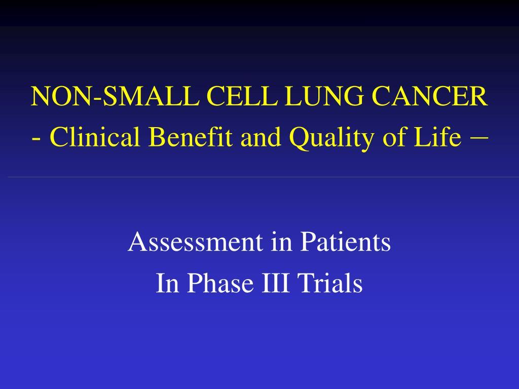 NON-SMALL CELL LUNG CANCER