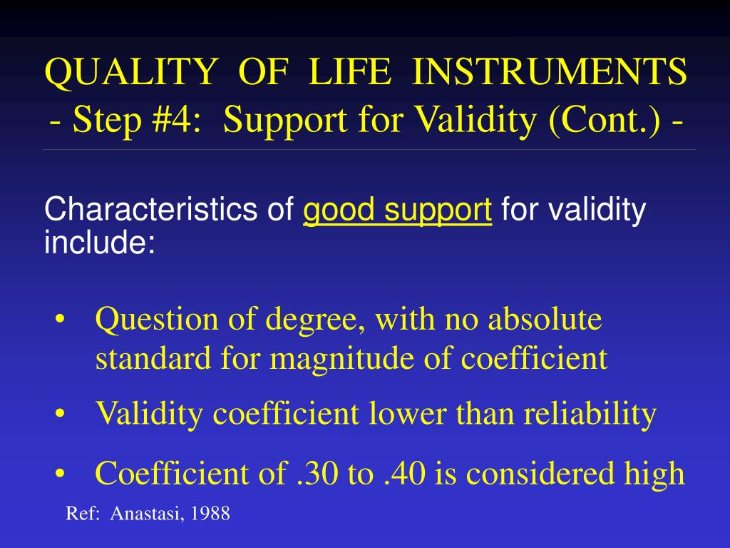 QUALITY  OF  LIFE  INSTRUMENTS