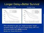 longer delay better survival