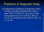predictors of diagnostic delay