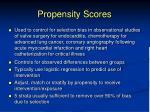 propensity scores