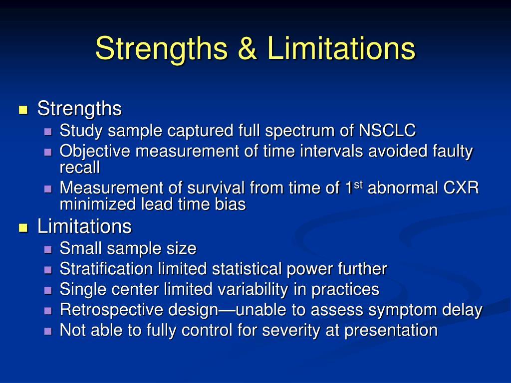 Strengths & Limitations