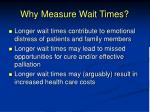 why measure wait times