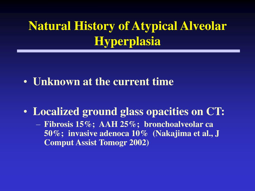Natural History of Atypical Alveolar Hyperplasia