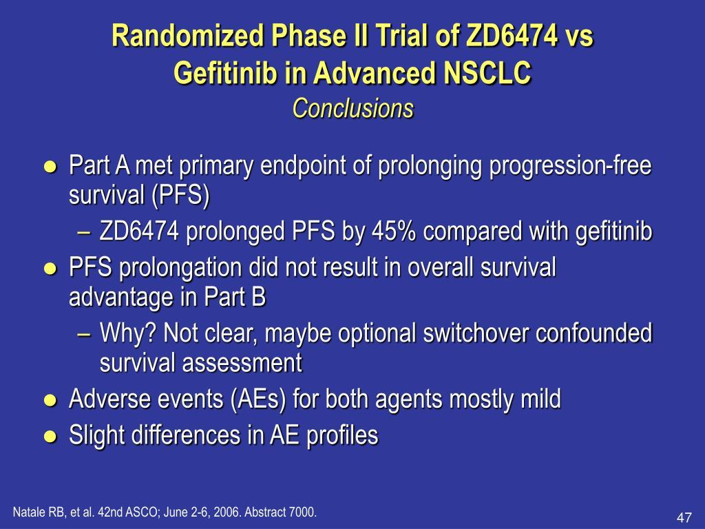 Randomized Phase II Trial of ZD6474 vs