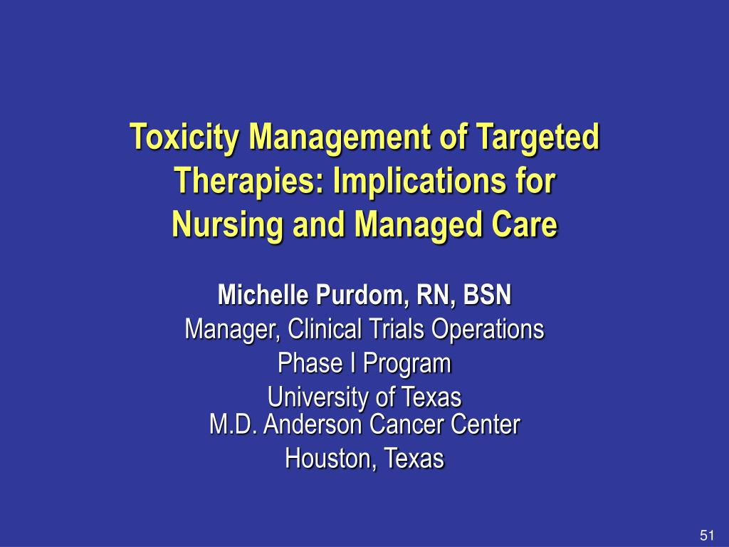 Toxicity Management of Targeted Therapies: Implications for
